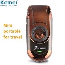 Kemei маленькая электробритва для мужчин Беспроводная перезаряжаемая Мини Портативная Бритва для бороды возвратно-поступательное лезвие станок для бритья лица 788