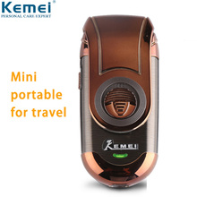 цена на Kemei Small Electric Shaver for Men Cordless Rechargeable Mini Portable Beard Razor Reciprocating Blade Face Shaving Machine 788