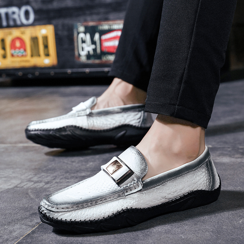 2018 new Brand  Leather Fashion Soft Men Loafers Moccasins High Quality Driving Shoes 5