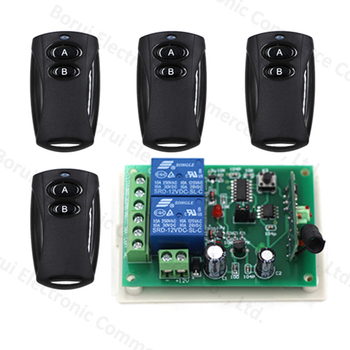 2CH wireless remote control switch 4 Transmitter + 1 Receiver RF Wireless Remote Control teleswitch
