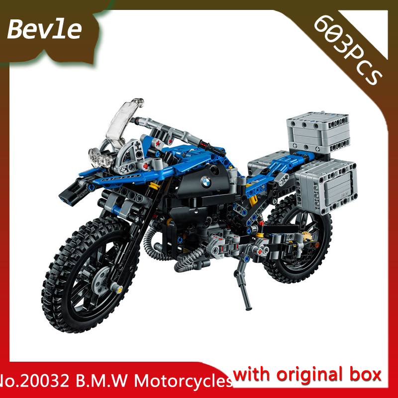 Bevle Store LEPIN 20032 603pcs with original box Technic Series motorcycle Model Building Blocks Bricks For Children Toys  42063 bevle store lepin 22001 4695pcs with original box movie series pirate ship building blocks bricks for children toys 10210 gift