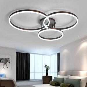 Image 2 - Hot koop Creatieve ringen led kroonluchter plafond voor woonkamer lights bed room ledlamp Bruin moderne kroonluchter verlichtingsarmaturen