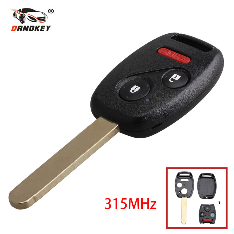 Forceful Dandkey Remote Car Key 2+1 3 Buttons With Id46 Chip For Honda Cr-v 2007 2008 2009 2010 2011 2012 2013 Replacement Remote Key Making Things Convenient For The People