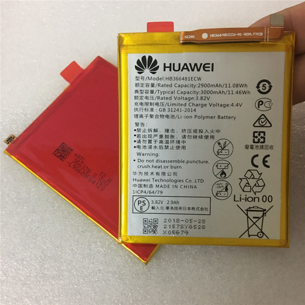 2018 100% original Real 3000mAh HB366481ECW For <font><b>Huawei</b></font> p9/p9 lite/honor 8/<font><b>p10</b></font> lite/y6 II/p8 lite /p20 lite/p9lite <font><b>battery</b></font> image