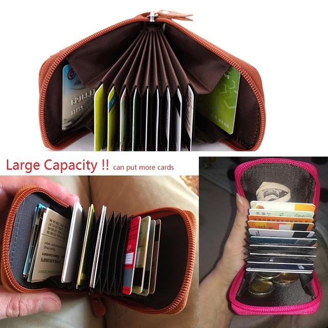 Genuine Leather Unisex Card Holder Wallets