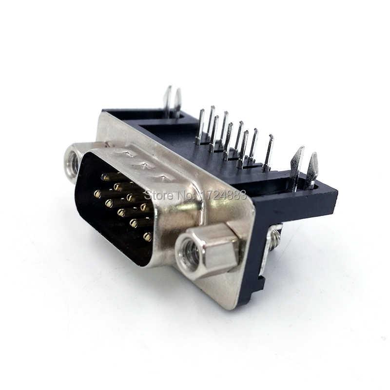 DB9 pcb アダプタコネクタ RS232 シリアル角度 90 データケーブルコネクタ Com プラグ 9pin 穴ポートソケット女性 & 男性 D タイプ