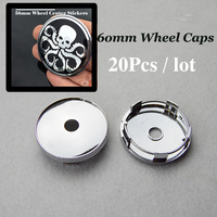 4pcs 20pcs 60mm 2 36inch Pvc Auto Wheel Center Cap For Octopus Logo Car Wheel Center
