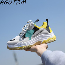 AGUTZM 2018 New Spring Summer Women Shoes Ulzzang Breathable Fashion Zapatos Mujer Sneakers Shoes High Heel Canvas Shoes