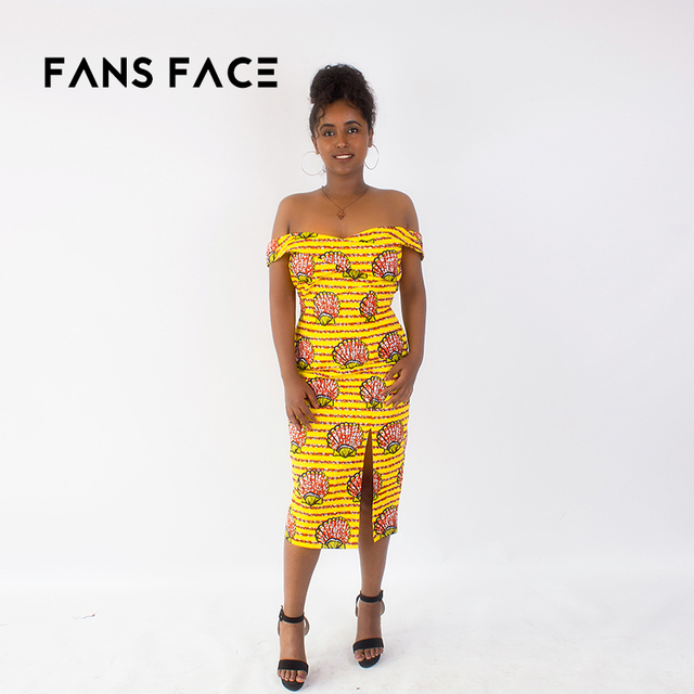 Fans Face 2018 New Design African Dresses For Women Plus Size