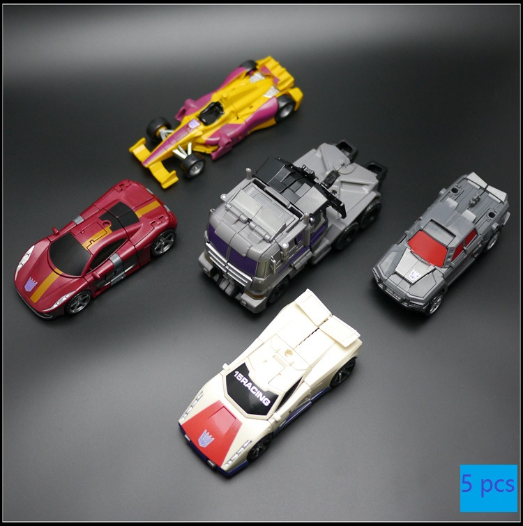 5pcs set Menasor Member Car Offroad Dead End DragStrip Action Figure Classic Toys For Boys Collection