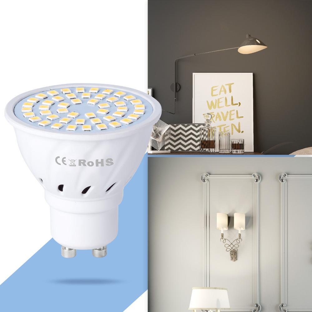 Купить с кэшбэком GU10 Led Lamp 220V Bombilla Led E27 Spotlight SMD2835 MR16 Led Corn Bulb 4W 6W 8W Spot Light E14 Home Ampoule Ceiling Light B22