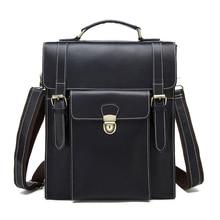 Senkey style Vintage Brand Genuine Leather Men Bag Business Men's Briefcase Laptop Luxury Crazy Leather Men Shoulder Travel bag
