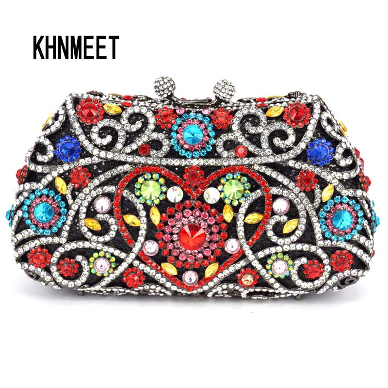 Blue Luxury crystal clutch bags ladies evening bags diamond femme pochette purse purse women wedding bride Day Clutches SC093 2015 2 side sequined chinese style fish shaped ladies evening bags small crossbody bags for women clutch wallet pochette l702