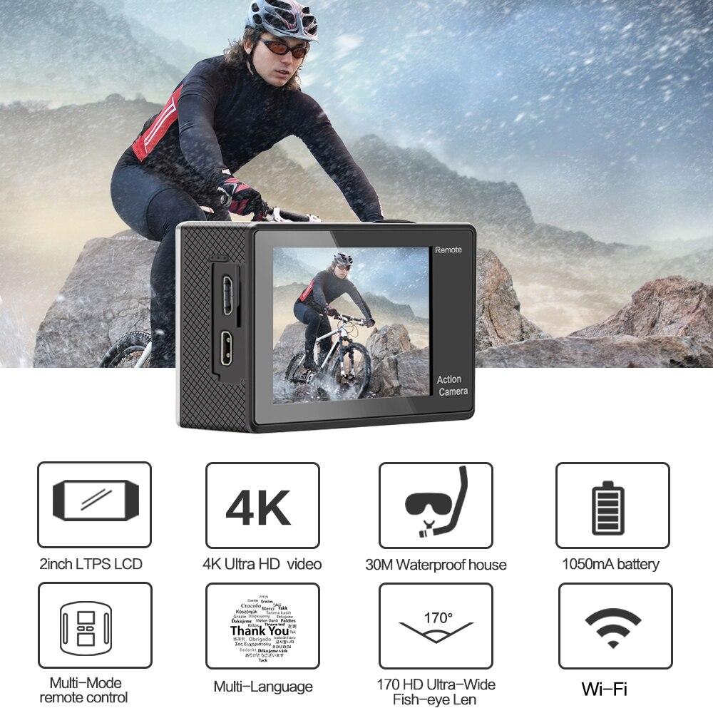"""GEEKAM S9R/S9 Action Camera Ultra HD 4K/10fps WiFi 2.0"""" Underwater Waterproof Helmet Video Recording Cameras Sport Cam-3"""
