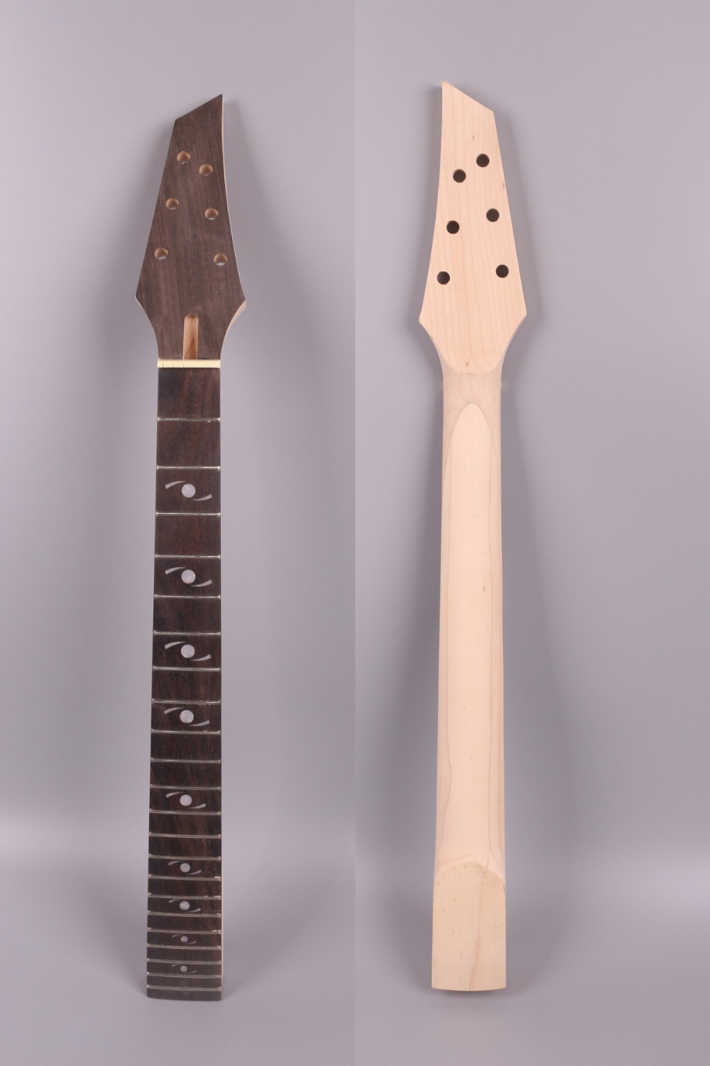 Electric guitar neck 22 fret 25.5 inch solid wood Fretboard 002 inlaid Rosewood Fretboard Bolt On Canada Maple left hand electric bass guitar neck 21 fret 34 inch maple wood rosewood fretboard 719