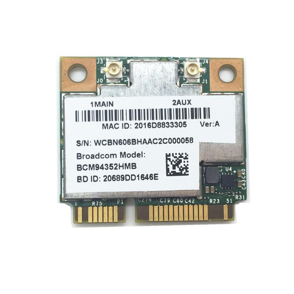 NEW BCM94352HMB BCM94352 AW-CE123H 802.11/ac 867Mbps WLAN + Bluetooth BT 4.0 Half Mini PCI-E Card