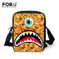 Forudesigns 2016 3d zoo animal bolsas de mensajero crossbody bolsa, niños shoulder bag kids pet cat mochila bandolera bolsa