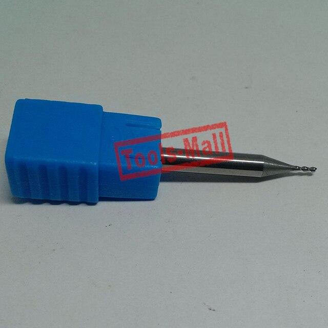 1pc 1mm D1*3*D4*50 HRC50 2 Flutes Milling cutters for Aluminum  CNC Tools Solid Carbide CNC flat End mills Router bits