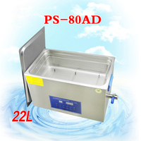 1PC PS 80AD AC110/220v 480W Digital Ultrasonic Cleaner 22L Cleaning machine Jewellery Clean free basket