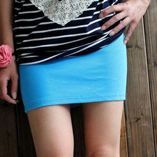 JSMY Candy-colored Tight-fitting Mini Pencil Skirt Threaded Cotton-padded Hip Skirt Step Skirt School Skirt 6PC