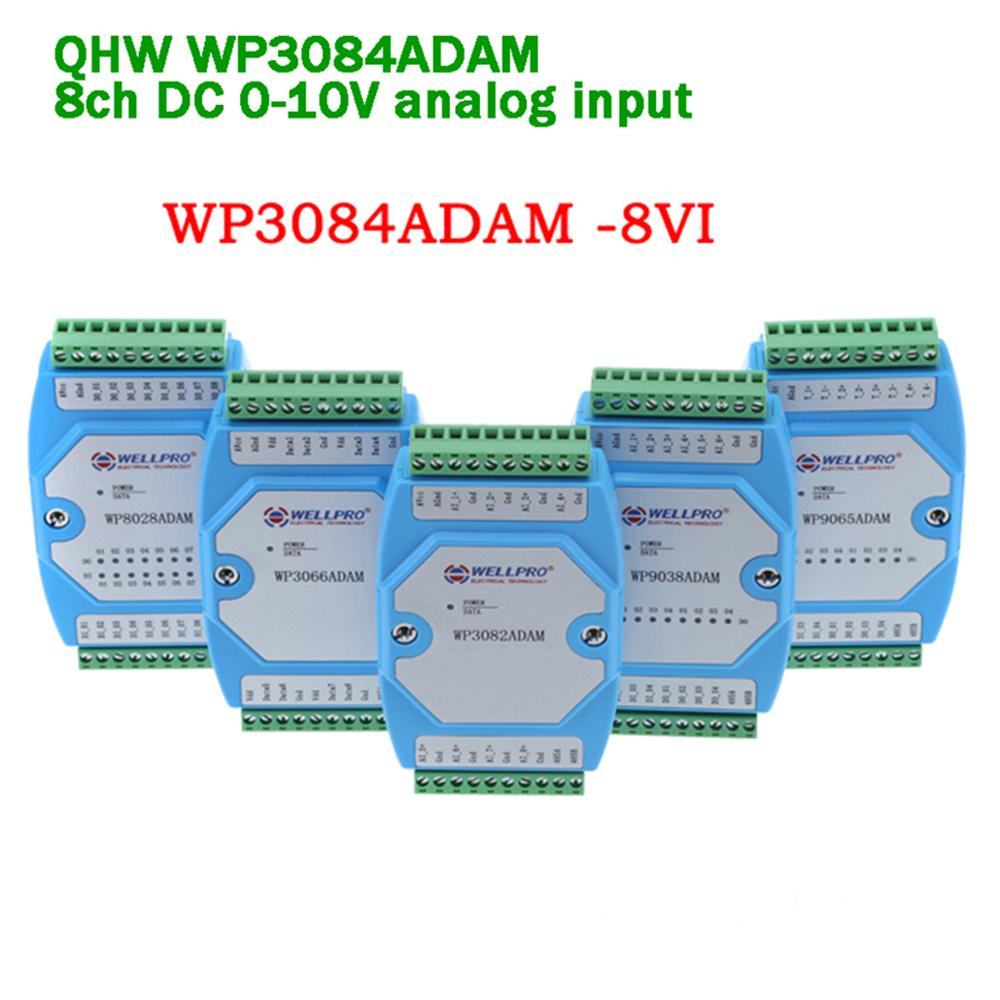 8ch DC0-10V Analog Input Module/RS485  Modbus RTU For Data Collection/Industrial Automation Parking Remote Program Gateway