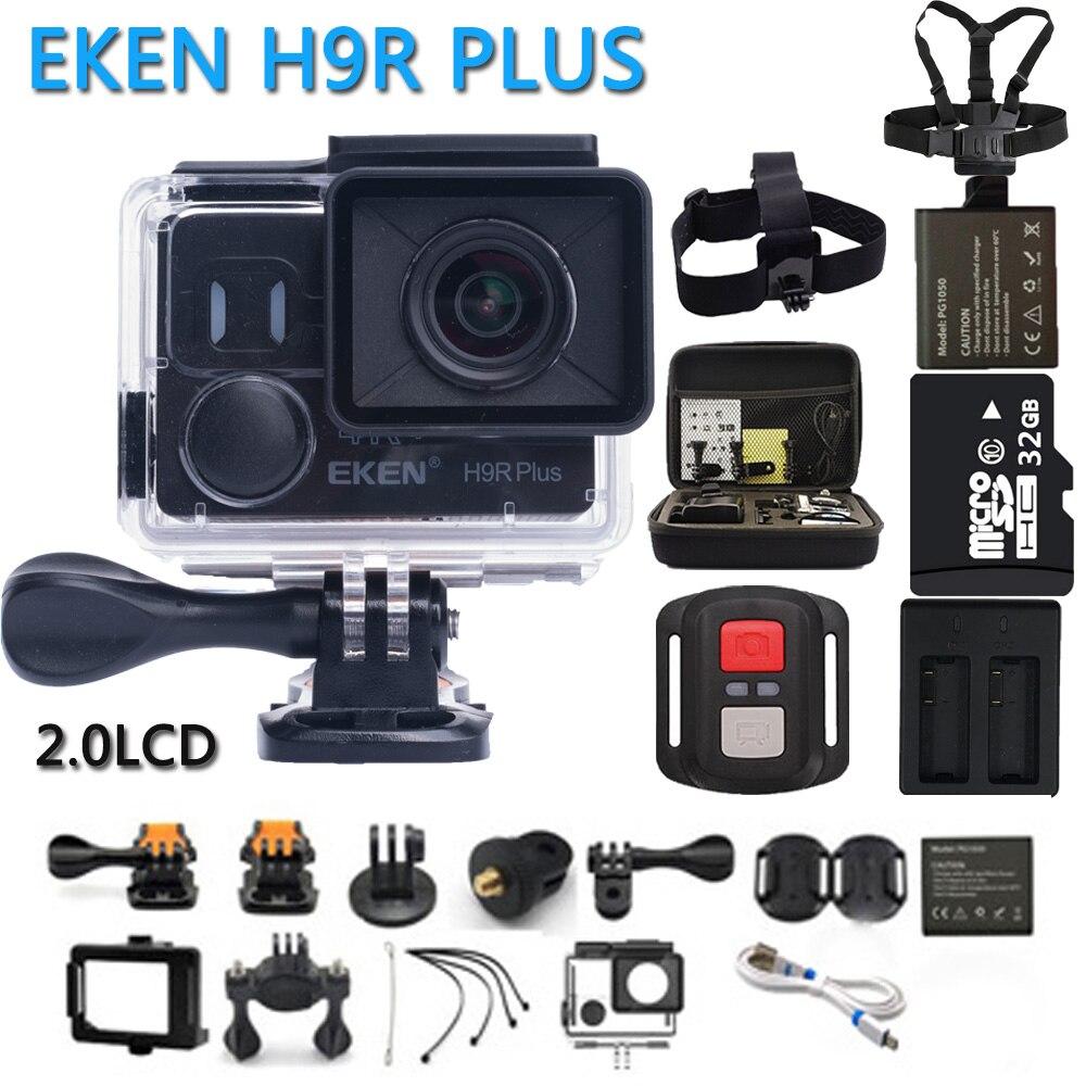 EKEN H9R Plus Action Kamera Ultra HD 4 Karat Ambarella A12 4 karat/30fps für Panasonic 34112 14MP wasserdicht wifi sportnocken p @ 60fps