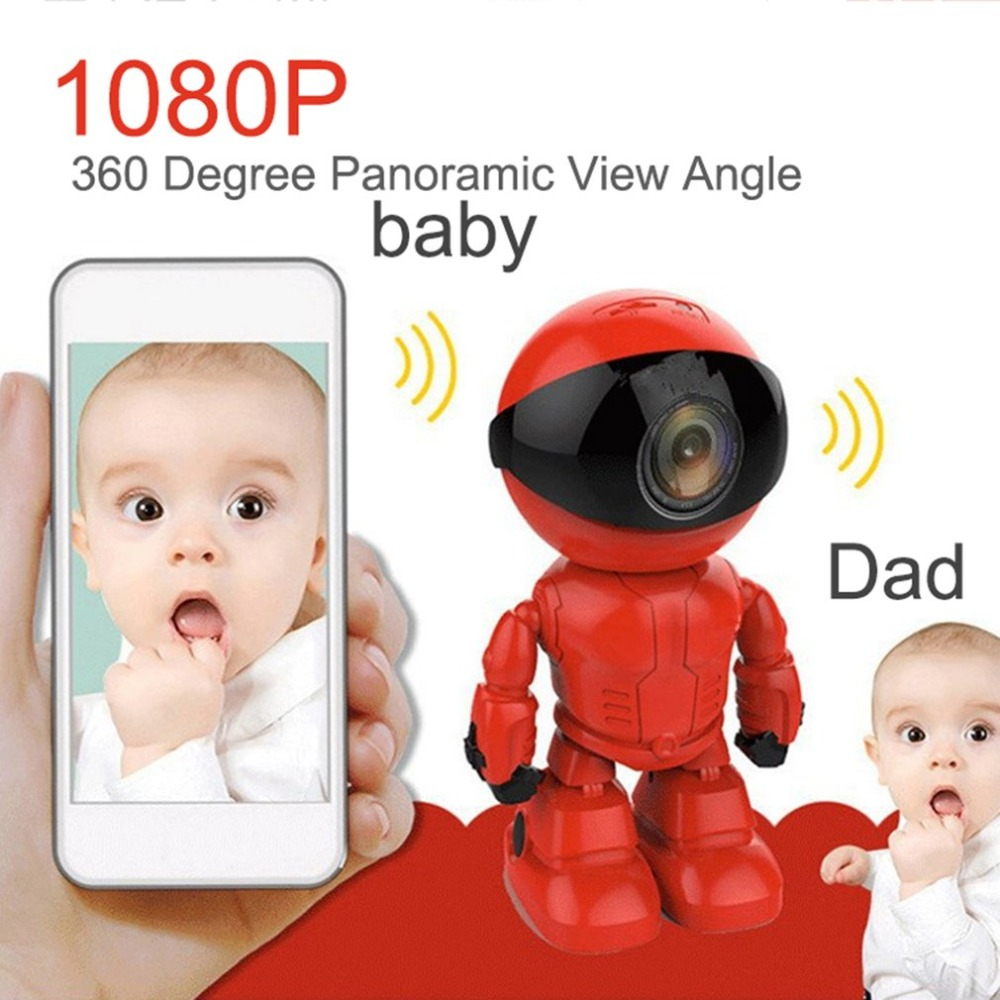 Video Surveillance 1080p Hd Network Camera Two-way Audio Wireless Network Camera Night Vision Motion Detection Camera Robot Pet Baby Monitor Baby Monitors