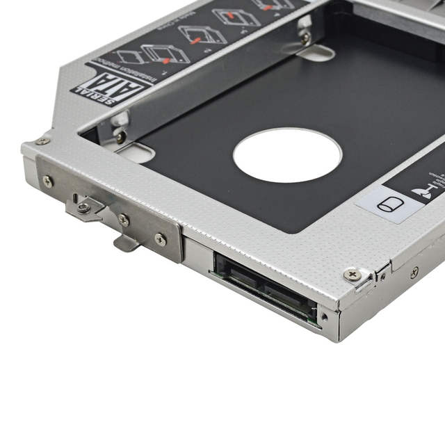 US $8 36 24% OFF|For HP EliteBook 8470P 8460W 8460P 8470W Optibay 2nd HDD  Caddy 12 7mm SATA3 0 For 2 5''SSD DVD HDD Case Enclosure CD ROM Adapter-in