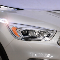 ABS Chrome For Ford Kuga Escape 2017 accessories car styling Car Headlamps cover Cover Trim