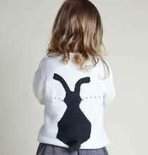 Kids Baby Girls Boys Clothes Coat Cute Little Bunny 100% Cotton Embroidered Sweater Children Tops 1-5T