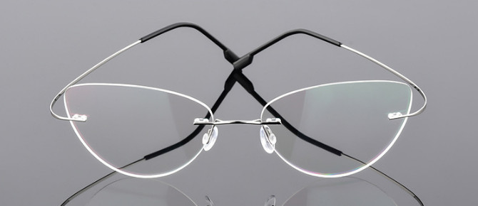 Image 2 - Cat eye women Titanium Alloy Rimless myopia glasses Nearsighted Glasses prescription glasses  1.0  1.5  2.0  2.5  3.0 to  6.0-in Men's Eyewear Frames from Apparel Accessories