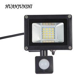 10 Вт, 20 Вт, хит продаж отражатель светодиодный прожектор светильник поиск светильник с движения Pir Сенсор 220 Наводнение светильник Водонепро...