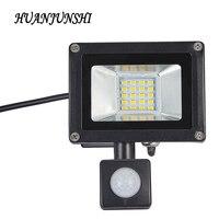 Outdoor 10W 20W LED Flood Light With Adjustable Pir Motion Sensor High Power IP65 Waterproof Outdoor