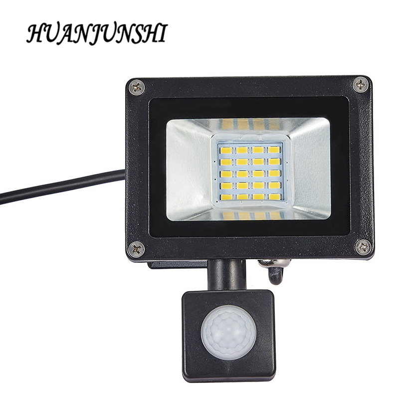 10W 20W Refletor <font><b>LED</b></font> Flood Light Searchlight With Pir <font><b>Motion</b></font> Sensor 220v Floodlight Waterproof Outdoor Lighting Factory Price