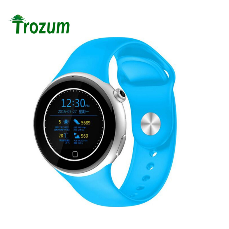TROZUM C5 Bluetooth 4.0 Smart Watch Support SIM Pedometer Heart Rate Monitor UV Detection Smartwatch Wristwatch for Android IOS gs8 1 3 inch bluetooth smart watch sport wristwatch with gps heart rate monitor pedometer support sim card for ios android phone