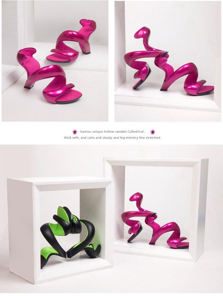 Extraordinaire Haut Talons pour Femmes Forme Serpent