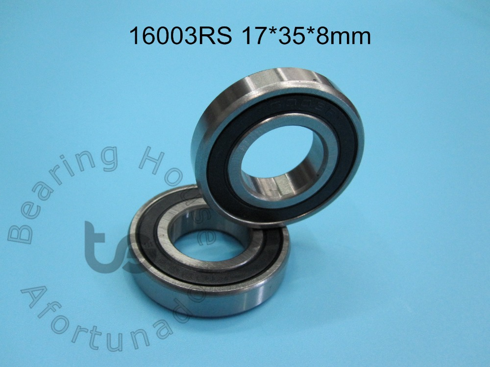 16003RS 17*35*8(mm) 1Piece Bearing  ABEC-5 16003 16003RS Rubber Sealing Type  Chrome Steel Deep Groove Bearing