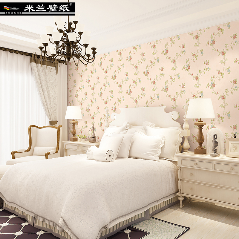 MILAN New Fashion Floral Home Decor 3d Wallpaper Roll for Living Room and Bedroom European Pastoral Style 3d Wall paper Roll fashion letters and zebra pattern removeable wall stickers for bedroom decor