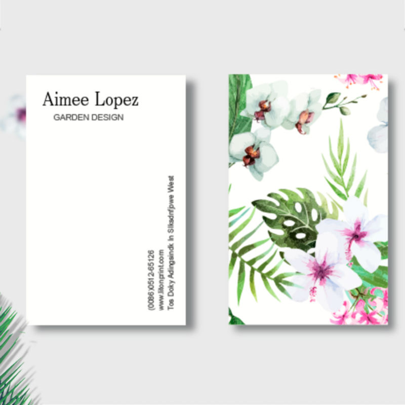 Customized Business Card Floral business card (Printing & Design)-in ...