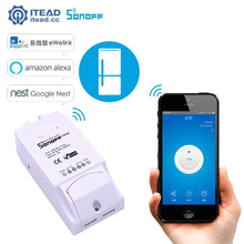 Itead Sonoff TH16 16A Temperature Humidity Monitor Timer Sensor Controller Smart Switch Via APP Control For