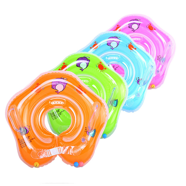 Swimming Baby Pools Accessories Baby Inflatable Ring Baby Neck Inflatable Wheels for Newborns Bathing Circle Safety Neck Float 1