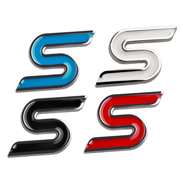 4 colors automobiles 3d zinc alloy modify s logo car sticker for