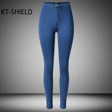 Высокая талия тощий Карандаш джинсы женские Джинсы леггинсы твердые jeggings мода Женский Повседневная полная длина брюки Хлопок девушка жан