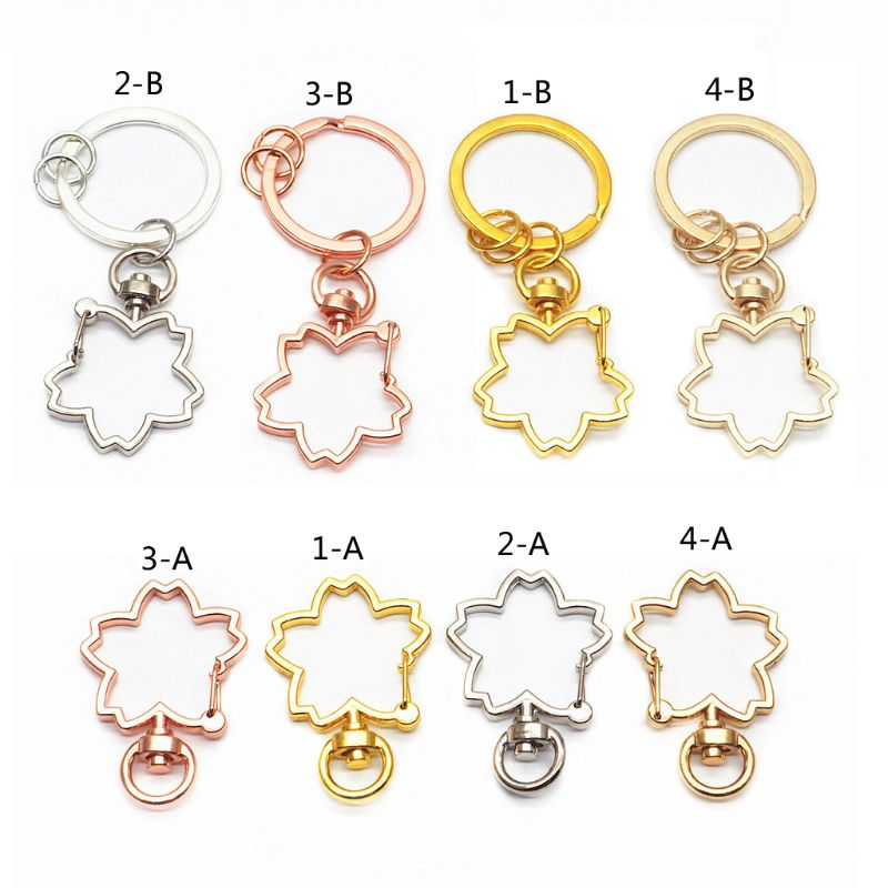 "Lanyards Keychains 1/"" Swivel Lobster Clasps Key Rings Gold Color"