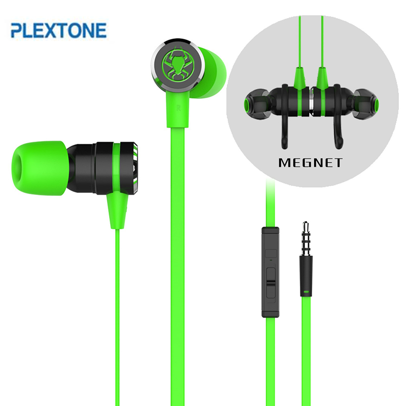 PLEXTONE G20 Wired Magnetic Gaming Headset In-ear GAME Earphone With Mic Stereo 2M Bass Earbuds Computer Earphone For PC Phone plextone x53m magnetic metal mega bass in ear earphone for iphone 4s 5 6s samsung s6 s7 lg g3 g5 mobile phone earphones with mic