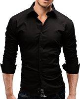Brand 2018 Fashion Male Shirt Long Sleeves Tops Slim Casual Solid Color Mens Dress Shirts Slim
