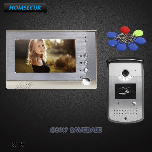 7inch Wired HOMSECUR Video Door Intercom System with IR Night Vision for Home Security 1V1