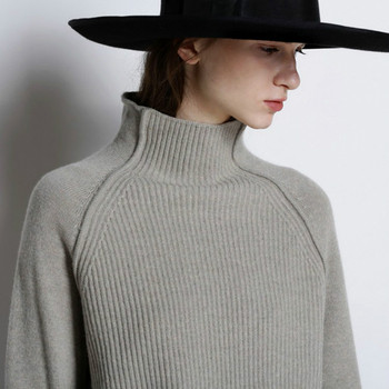 2020 New Autumn and Winter Cashmere Sweater Women High-Collar Thickened Pullover Loose Sweater Large Size Knitted Wool Shirt