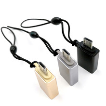 2pcs Micro USB adapter male-female OTG converter with Android cable 3.0usb 3.0 to