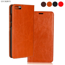 LUCKBUY Top Quality Classic Business Crazy Horse Pattern Genuine Leather Flip Cover For Xiaomi Mi 6 Mi6 Plus Luxury book Case